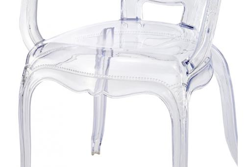 Lot de 2 Chaises Polycarbonate Transparent MOON Transparent MD174154-0000