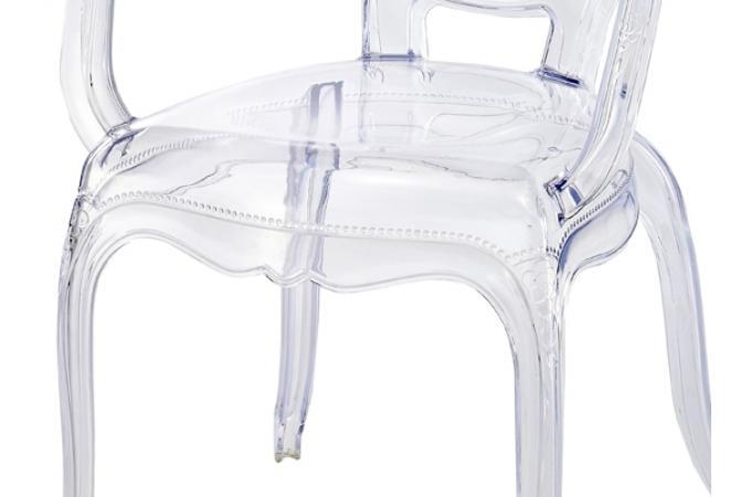 Lot de 2 chaises polycarbonate transparent moon design en direct de l 39 usi - Fauteuil polycarbonate transparent ...