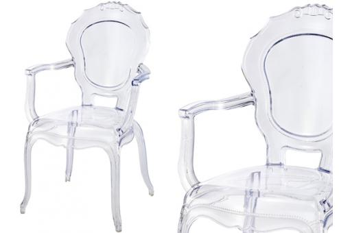Lot de 2 Chaises Polycarbonate Transparent MOON SoFactory