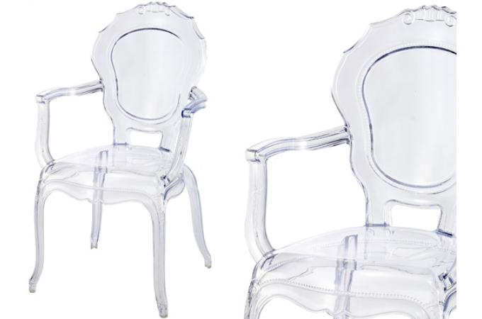 lot de 2 chaises polycarbonate transparent moon - Chaise Polycarbonate Transparente