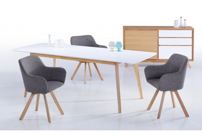 fauteuil tissu gris de190930 0000 - Fauteuil De Table Scandinave