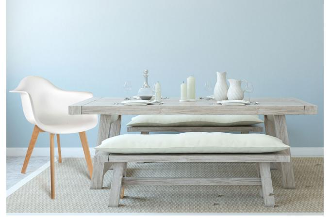 lot de 2 chaises scandinaves avec accoudoir blanches norway design sur sofactory. Black Bedroom Furniture Sets. Home Design Ideas