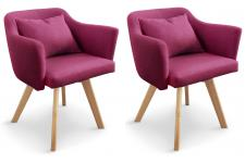 Lot de 2 Fauteuils Scandinaves Violets TEIKI