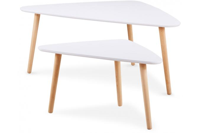 Lot De 2 Tables Gigogne Scandinave Blanc Ruskin Design Sur Sofactory