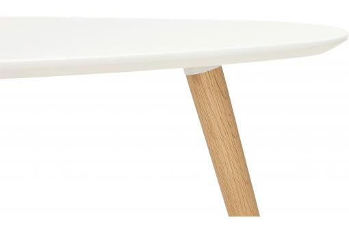 Ensemble de deux tables gigognes scandinaves blanches VALIHA KO189740-0000