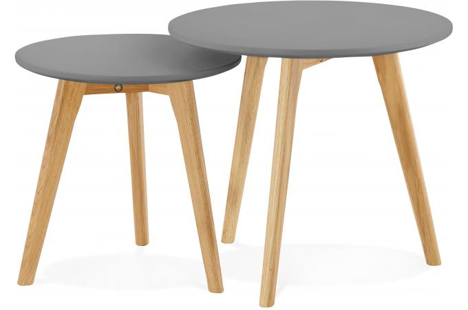 lot de 2 tables gigognes scandinaves grises lowe design sur sofactory. Black Bedroom Furniture Sets. Home Design Ideas