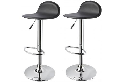 Lot de 2 tabourets de bar CHECKY Noir SoFactory