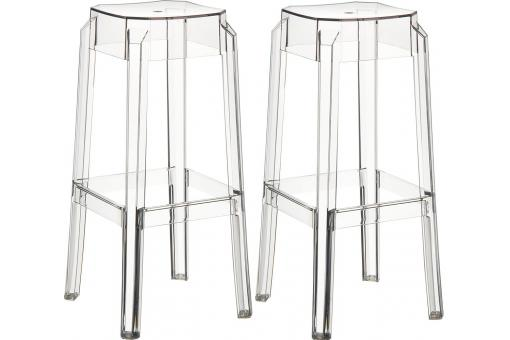 Lot de 2 Tabourets de bar design Transparents SOXX
