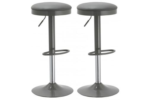 Lot de 2 tabourets de bar DIDO Gris