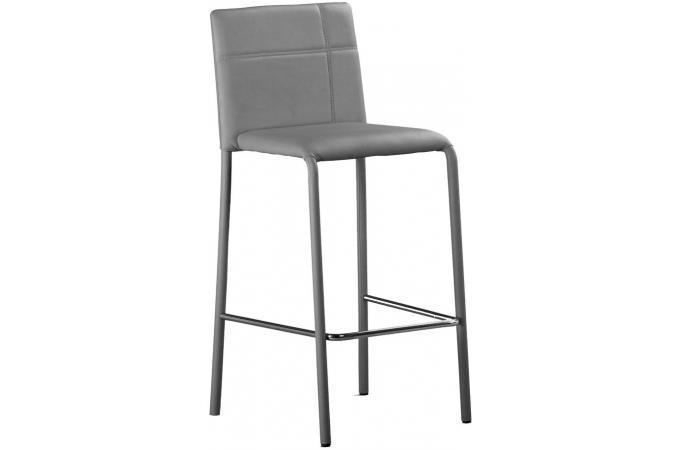 lot de 2 tabourets de bar gris prince design sur sofactory. Black Bedroom Furniture Sets. Home Design Ideas