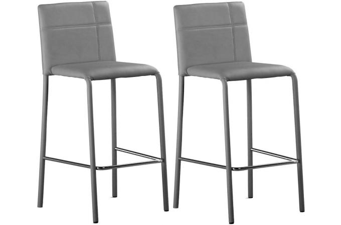 lot de 2 tabourets de bar gris prince design sur sofactory. Black Bedroom Furniture Sets. Home Design Ideas