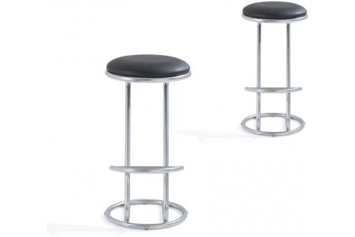 Lot de 2 Tabourets de Bar Noir BEINA So295165-0000