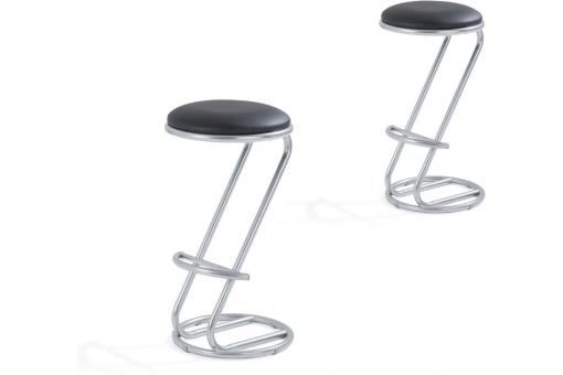 Lot de 2 Tabourets de Bar Noir BEINA SoFactory