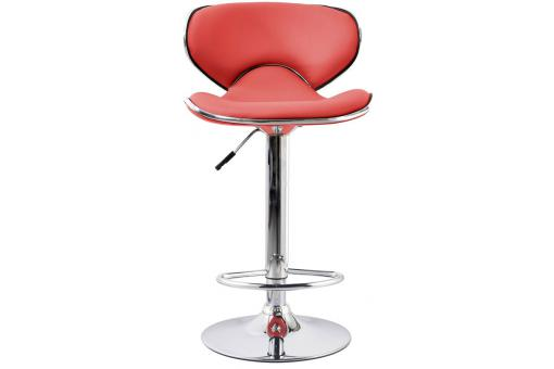 Tabouret de bar Simili Cuir Rouge Lo186028-0000