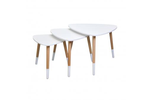 Lot de 3 tables gigognes blanches LOTE SoFactory