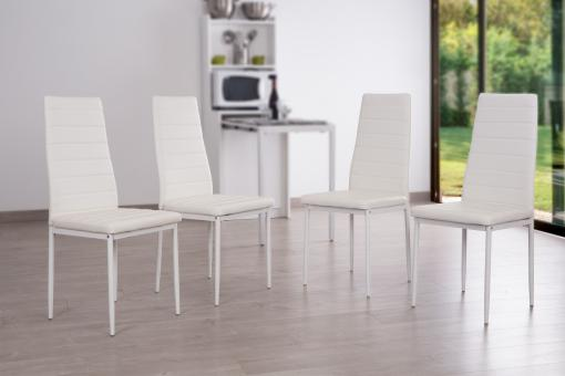 Lot de 4 Chaises Blanc PANDO So113152-0000