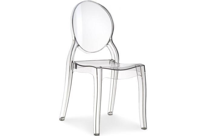 chaise m daillon plexi transparente romantique elizabeth. Black Bedroom Furniture Sets. Home Design Ideas