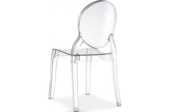 chaise m daillon plexi transparente romantique elizabeth design sur sofactory. Black Bedroom Furniture Sets. Home Design Ideas