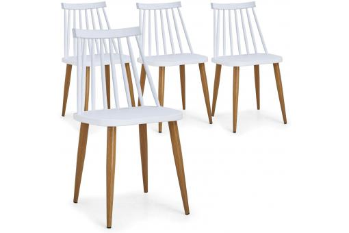 Lot de 4 Chaises Scandinaves Blanches SKELLO SoFactory