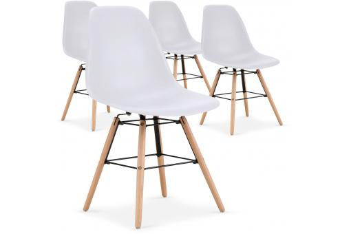 Lot de 4 Chaises Scandinaves Blanches ESTEBAN SoFactory