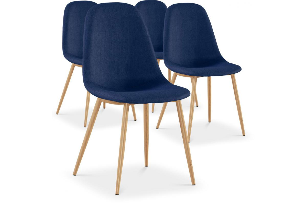 Lot de 4 Chaises Scandinaves Bleues KAUVA SoFactory