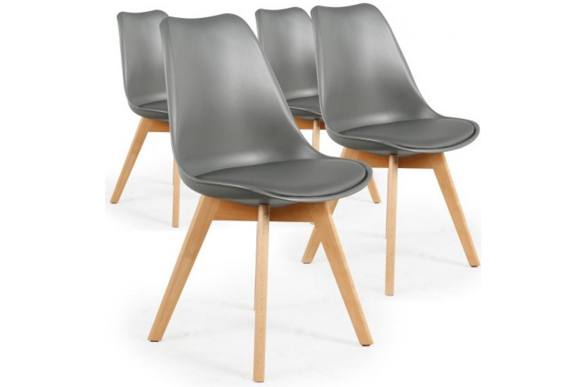 Lot De 4 Chaises Scandinaves Grises SWEDEN SoFactory
