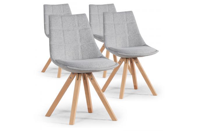lot de 4 chaises scandinaves grises megan design sur sofactory. Black Bedroom Furniture Sets. Home Design Ideas