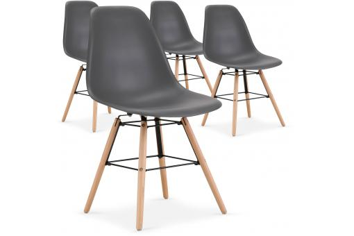 Lot de 4 Chaises Scandinaves Grises ESTEBAN SoFactory