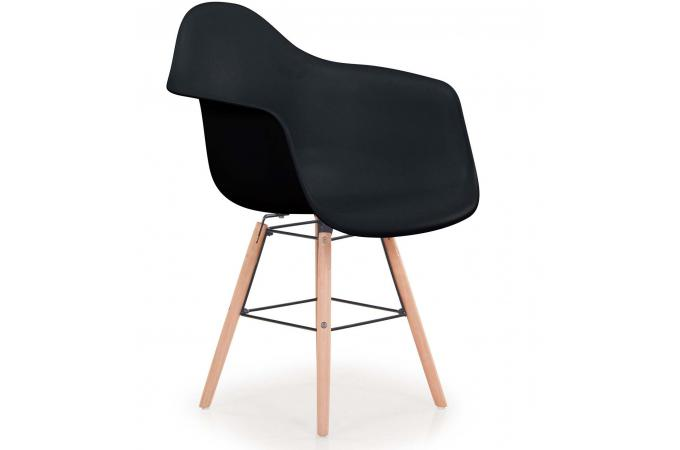Lot De 4 Chaises Scandinaves Ralf Noir JINX