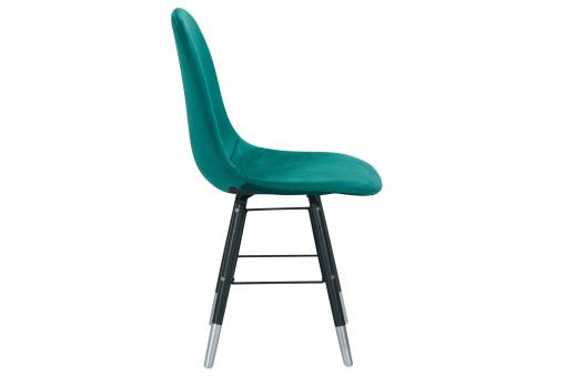 Lot de 4 Chaises Scandinaves Velours Vert NAVAJOS ME269619-0000