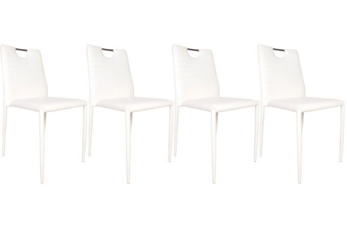 Lot de 4 chaises SMILY Blanc