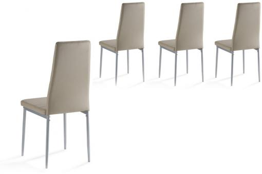 Lot de 4 Chaises Taupe CALABI Taupe So295127-0000