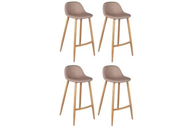 Lot De 4 Tabourets De Bar Scandinave Beige Otan Design Sur Sofactory