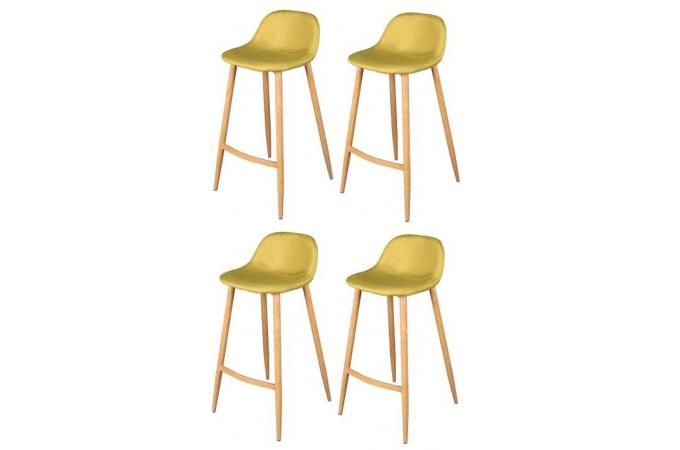 lot de 4 tabourets de bar scandinave vert anis otan design sur sofactory. Black Bedroom Furniture Sets. Home Design Ideas
