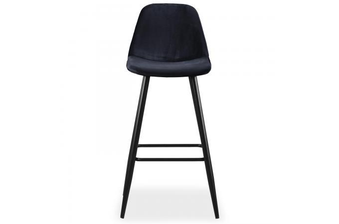 Tabourets Design Bar Sofactory 4 Sur Sinrai Velours Noir Lot De QeWxBordC