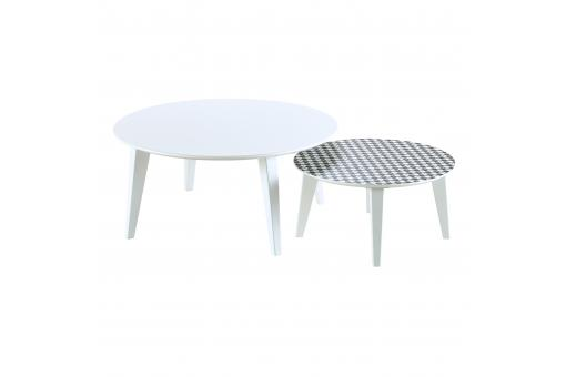 Lot De 2 Tables Gigognes Scandinaves Rondes ANIS