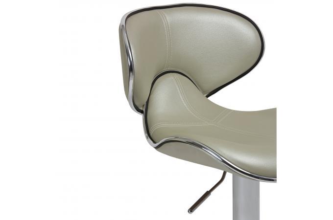 lot de 2 tabourets de bar gris chrom eliseo design sur sofactory. Black Bedroom Furniture Sets. Home Design Ideas