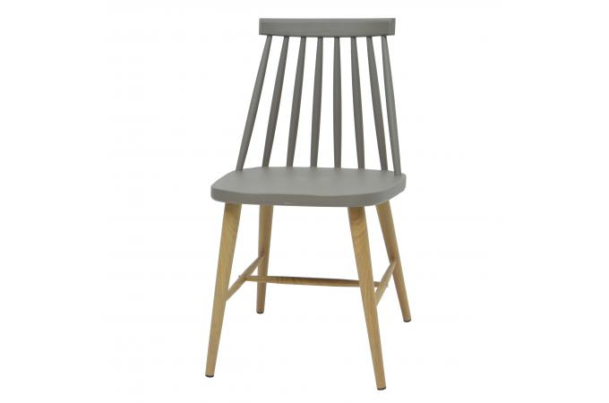lot de 2 chaises scandinaves grises waola - Chaises Scandinaves Grises