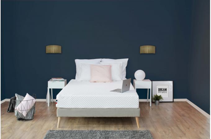 matelas en latex et mousse m moire de forme 50kg m3 blanc h22 90x190 cm artemis design sur. Black Bedroom Furniture Sets. Home Design Ideas