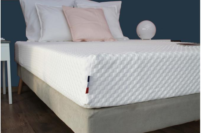 matelas en latex et mousse m moire de forme 50kg m3 blanc h22 90x190 cm artemis design sur. Black Bedroom Furniture Sets. Home Design Ideas