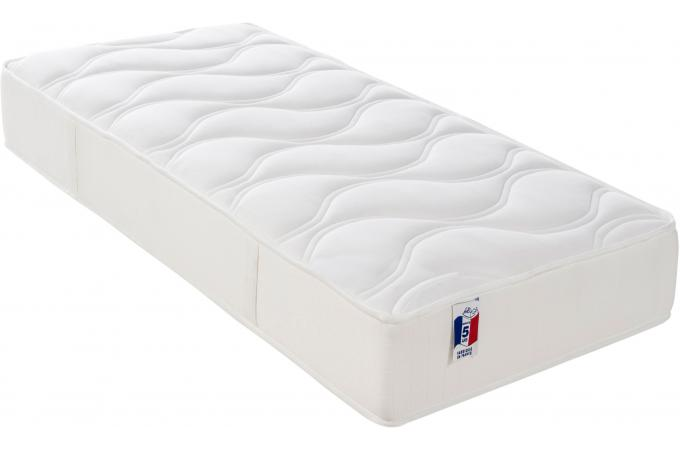 matelas en mousse m moire de forme 50 kg m3 blanc cm 90x190 cm memory design sur sofactory. Black Bedroom Furniture Sets. Home Design Ideas