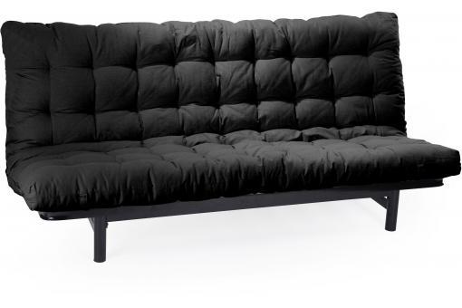 matelas futon pour clic clac 135x190 cm noir dos. Black Bedroom Furniture Sets. Home Design Ideas