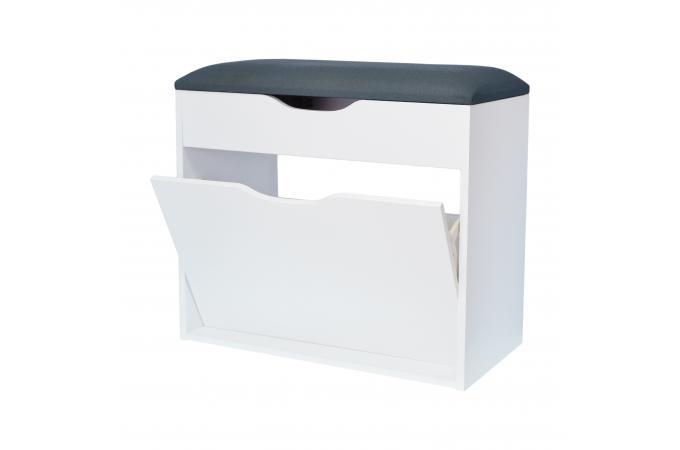 meuble a chaussures avec assise en tissu l60 larama design sur sofactory. Black Bedroom Furniture Sets. Home Design Ideas