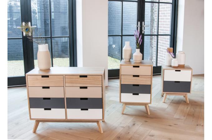 Meuble de rangement gris beige nalca design sur sofactory - Meuble de rangement gris ...