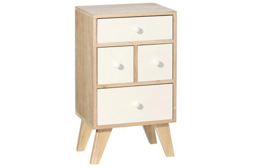 commode scandinave 4 compartiments destiny design sur sofactory. Black Bedroom Furniture Sets. Home Design Ideas