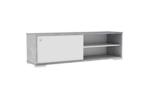 Meuble Tv 2 Niches Blanc Gris Cedar Design Sur Sofactory