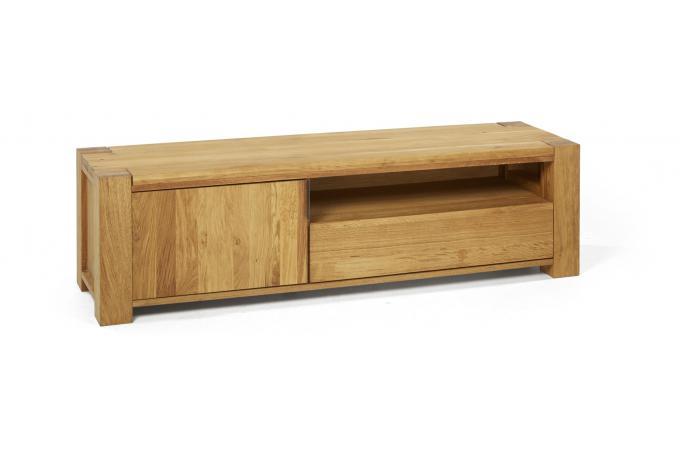 Meuble Tv Bois 1 Porte 1 Tiroir Norna Design Sur Sofactory