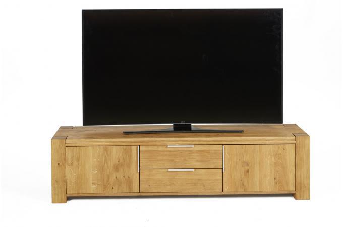 Meuble TV Bois 2 Portes 2 Tiroirs NORNA design sur SoFactory