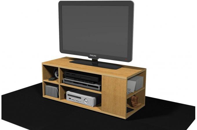 meuble tv en 90 d cor ch ne pierre design sur sofactory. Black Bedroom Furniture Sets. Home Design Ideas