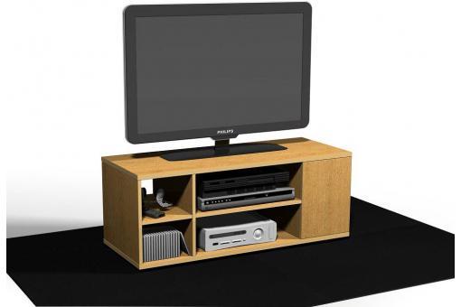 Meuble tv en 90 d cor ch ne pierre design sur sofactory for Meuble tv 90
